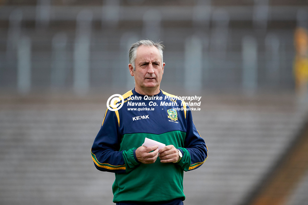 01-08-21, All Ireland Ladies SFC quarterfinal at Clones<br /> Meath v Armagh<br /> Meath manager, Eamonn Murray<br /> Photo: David Mullen / www.quirke.ie ©John Quirke Photography, Proudstown Road Navan. Co. Meath. 046-9079044 / 087-2579454.<br /> ISO: 400; Shutter: 1/1250; Aperture: 4;