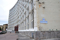 Russian winters have been hard on this 60's administrative building in St. Petersburg.