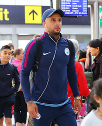 Kyle Walker at Manchester Airport as the Manchester City team fly out to the USA on Monday morning to start their pre-season tour