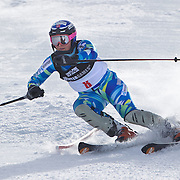 in action during the Women's Slalom event during the Winter Games at Cardrona, Wanaka, New Zealand, 24th August 2011. Photo Tim Clayton...
