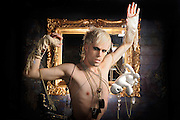 Justin Tranter of NYC-based band Semi Precious Weapons, photographed on March 27, 2010 by music photographer Todd Owyoung.