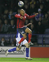 Photo: Steve Bond/Richard Lane Photography. Leicester City v West Bromwich Albion. Coca Cola Championship. 07/11/2009. Gianni Zuiverloon defends towards his own goal late in the game.