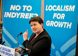 Scottish Coinservatives leader Ruth Davidson speaking at the G & V Hotel in Edinburgh whilst on the election campaign trail.<br /> <br /> © Dave Johnston/ EEm