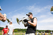 The Oregon Marching Band practices in Suttons Bay, Michigan on July 9, 2008.