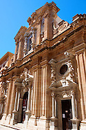 Baroque Chiesa del Collegio, Trapani, Sicily .<br /> <br /> Visit our SICILY PHOTO COLLECTIONS for more   photos  to download or buy as prints https://funkystock.photoshelter.com/gallery-collection/2b-Pictures-Images-of-Sicily-Photos-of-Sicilian-Historic-Landmark-Sites/C0000qAkj8TXCzro<br /> If you prefer to buy from our ALAMY PHOTO LIBRARY  Collection visit : https://www.alamy.com/portfolio/paul-williams-funkystock/trapanimaslalasaltpans.html