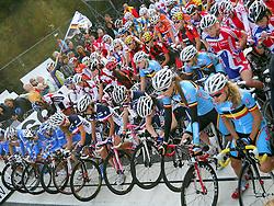 Riders at start during the Women´s Junior Road Race on day five of the UCI Road World Championships on September 23, 2011 in Copenhagen, Denmark. (Photo by Marjan Kelner / Sportida Photo Agency)