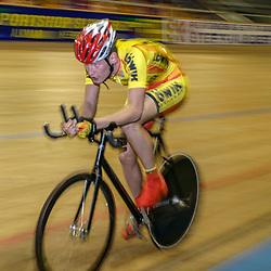 ALKMAAR (NED) wielrennen<br />NK Baanwielrennen ; mannen 2004,; Achtervolging; Sipke Zijlstra