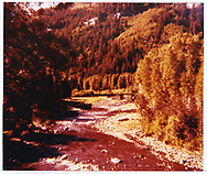 Dolores River scene east of Stoner with Bridge 89-A in distance as seen from CO 145.<br /> RGS  Stoner, CO  <br /> Thanks to Mike Talcott for additonal information.