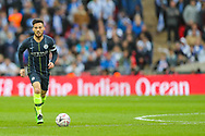 Manchester City midfielder David Silva (21) during the The FA Cup semi-final match between Manchester City and Brighton and Hove Albion at Wembley Stadium, London, England on 6 April 2019.