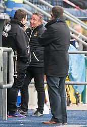 Inverness Caledonian Thistle's manager John Robertson after a shot went wide. Falkirk 0 v 0 Inverness Caledonian Thistle, Scottish Championship game played 14/10/2017 at The Falkirk Stadium.