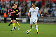 Gylfi Sigurdsson of Swansea city in action. Premier league match, Swansea city v Manchester city at the Liberty Stadium in Swansea, South Wales on Saturday 24th September 2016.<br /> pic by Andrew Orchard, Andrew Orchard sports photography.