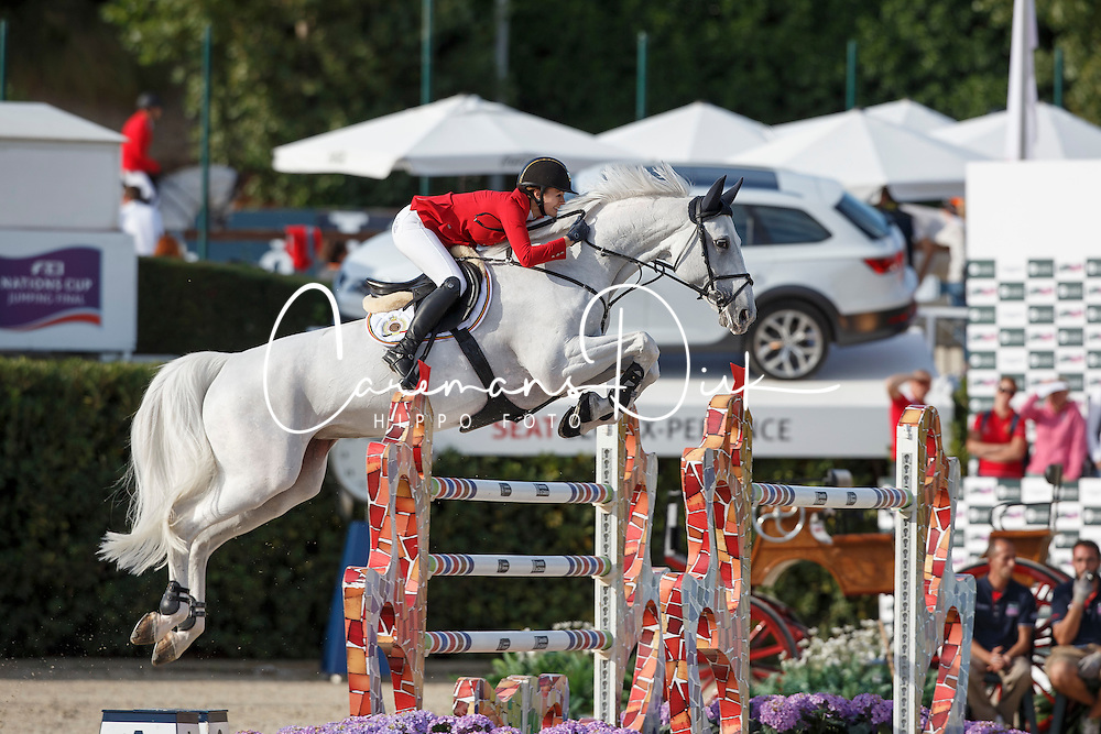 Melchior Judy Ann, (BEL), As Cold As Ice Z <br /> First Round<br /> Furusiyya FEI Nations Cup Jumping Final - Barcelona 2015<br /> © Dirk Caremans<br /> 24/09/15