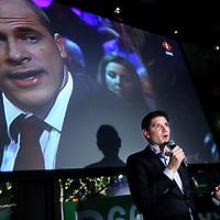 Nederland, amsterdam , 19 maart 2014.<br /> Jan Paternotte lijsttrekker D-66 na bekendmaking vd  Gemeenteraadsverkiezingen uitslagen in café Rijn.<br /> Foto:Jean-Pierre Jans