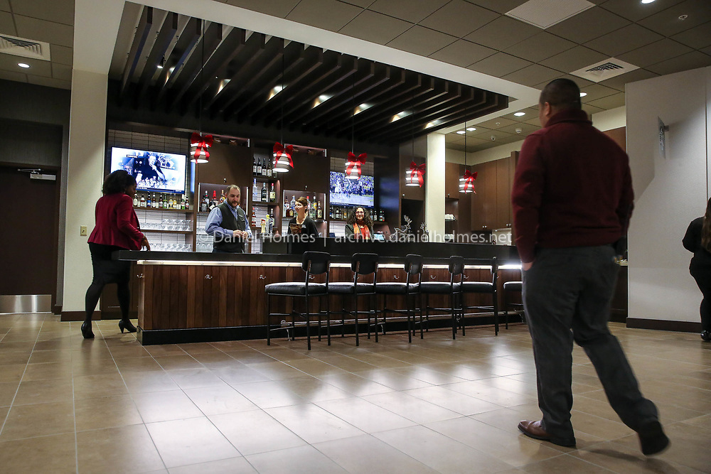 (12/7/17, MARLBOROUGH, MA) The bar of the new Hyatt Place Marlborough Apex Center at 169 Apex Drive in Marlborough on Thursday. [Daily News and Wicked Local Photo/Dan Holmes]