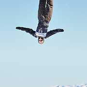 Andre Dumas (Park City, UT) performs aerial acrobatics during the 2009 Sprint US Freestyle Championships held at the Utah Olympic Park in Park City on March 8, 2009. Dumas scored 145.14 points during the event which was enough to secure10th place overall.