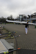 Eton, GREAT BRITAIN,  Thomas BOND,M1X carries boat, GB Trials 3rd Winter assessment at,  Eton Rowing Centre, venue for the 2012 Olympic Rowing Regatta, Trials cut short due to weather conditions forecast for the second day Saturday  12/02/2011   [Photo, Peter Spurrier/Intersport-images]