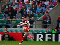 Photo: Richard Lane/Richard Lane Photography. Gloucester Rugby v Cardiff Blues. Anglo Welsh EDF Energy Cup Final. 18/04/2009. Gloucester's Ryan Lamb kicks.