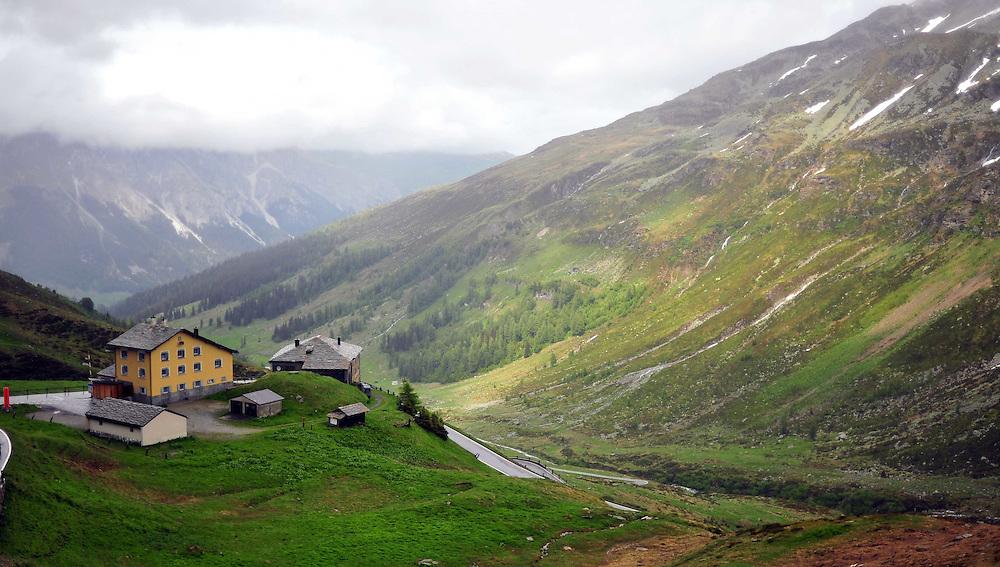 Swiss-Italian border at Spluga