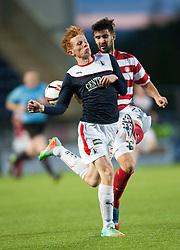 Falkirk's Scott Shepherd.<br /> Falkirk 1 v 1 Hamilton, Scottish Premiership play-off semi-final first leg, played 13/5/2014 at the Falkirk Stadium.