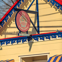 St. Michaels, MD, USA - March 30, 2013: Quant shops, stores, and resaurants are located on the main street in St Michaels, MD