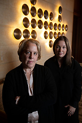 Roberta Kaplan, left, and Amy Spitalnick are the attorneys representing plaintiffs injured by white supremacists during a protest in Charlottesville, Va. in 2017; they posed for a photograph on Tuesday, Nov. 12, 2019 in Atherton, Calif. (AP Photo/D. Ross Cameron)