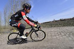 April 6, 2018 - France - VAN AVERMAET Greg  (BEL)  of BMC Racing Team in action (Credit Image: © Panoramic via ZUMA Press)