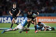 27.09.2014. Julian Savea breaks through Argentina's defence. Test Match Argentina vs All Blacks during the Rugby Championship at Estadio Único de la Plata, La Plata, Argentina.