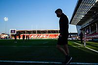 Rugby Union - 2020 / 2021 European Rugby Heineken Champions Cup - Round of 16 - Gloucester vs La Rochelle - Kingsholm<br /> <br /> A silhouette of La Rochelle's head coach Ronan O'Gara.<br /> <br /> COLORSPORT/ASHLEY WESTERN