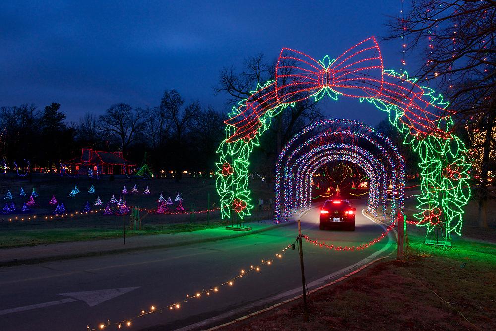 Holiday lights at Tilles Park in St. Louis on December 29, 2013.