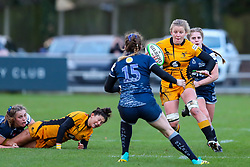 Lauren Delany of Sale Sharks Women faces up to Claire Molloy of Wasps Ladies  - Mandatory by-line: Nick Browning/JMP - 12/12/2020 - RUGBY - CorpAcq Stadium  - Sale, England - Sale Sharks Women v Wasps FC Ladies - Allianz Premier 15s
