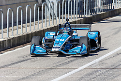 February 12, 2019 - U.S. - AUSTIN, TX - FEBRUARY 12: Max Chilton (59) in a Chevrolet powered Dallara IR-12 leaves the pits during the IndyCar Spring Training held February 11-13, 2019 at Circuit of the Americas in Austin, TX. (Photo by Allan Hamilton/Icon Sportswire) (Credit Image: © Allan Hamilton/Icon SMI via ZUMA Press)