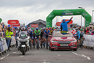 The riders set off from Stonehaven during Stage 8 of the AJ Bell Tour of Britain 2021 between Stonehaven to Aberdeen, , Scotland on 12 September 2021.