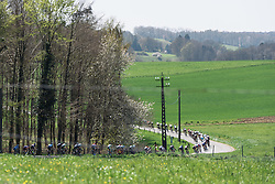 Weaving through the countryside - Flèche Wallonne Femmes - a 137km road race from starting and finishing in Huy on April 20, 2016 in Liege, Belgium.