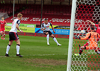 Football - 2020 / 2021 Sky Bet League Two - Crawley Town vs Bolton Wanderers - The People's Pension Stadium<br /> <br /> Antoni Sarcevic of Bolton scores his first half goal<br /> <br /> Credit : COLORSPORT/ANDRTEW COWIE