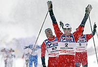 ◊Copyright:<br />GEPA pictures<br />◊Photographer:<br />Doris Hoefler<br />◊Name:<br />Estil<br />◊Rubric:<br />Sport<br />◊Type:<br />Ski nordisch, Langlauf<br />◊Event:<br />FIS Nordische Ski-Weltmeisterschaft, WM 2005, Nordische Kombination, Sprint<br />◊Site:<br />Oberstdorf, Deutschland<br />◊Date:<br />27/02/05<br />◊Description:<br />Anders Aukland (NOR), Frode Estil (NOR), Odd-Bjoern Hjelmeset (NOR)<br />◊Archive:<br />DCSHO-2702054833<br />◊RegDate:<br />27.02.2005<br />◊Note:<br />8 MB - MP/WU - Nutzungshinweis: Es gelten unsere Allgemeinen Geschaeftsbedingungen (AGB) bzw. Sondervereinbarungen in schriftlicher Form. Die AGB finden Sie auf www.GEPA-pictures.com.<br />Use of picture only according to written agreements or to our business terms as shown on our website www.GEPA-pictures.com.