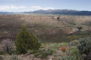 Rio Grande Gorge in spring, Taos County, New Mexico