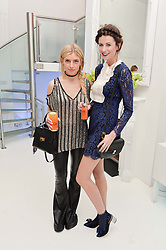 Left to right, KRISTEN RITCHIE and AMANDA MILLER at a London Fashion Week Party hosted by rewardStyle at IceTank, 5 Grape Street, London on 21st February 2016.