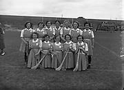 27/07/1952<br /> 07/27/1952<br /> 27 July 1952<br /> Camogie: All-Ireland semi-final Galway v Dublin at Croke Park. The Dublin team.