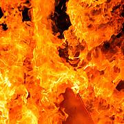 Bonfire flames closeup, London, England (July 2007)