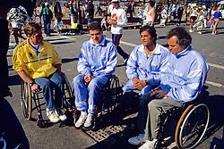 Bob Hall, Mustapha Badid & Friends, Boston Marathon 1990