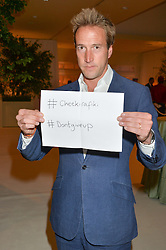 BEN FOGLE shows his support for themissing trans atlantic sailors from the Cheeki Rafiki at a dinner hosted by Cartier in celebration of The Chelsea Flower Show held at The Hurlingham Club, London on 19th May 2014.