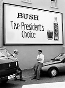Following the visit of the Reagans, whiskey manufacturers quickly seize an opportunity to advertise their wares. Was this a foretelling of the future, the words Bush and President in the same sentence?<br />