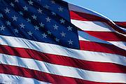 USA, Oregon, Hood River, US Flag at WAAAM.
