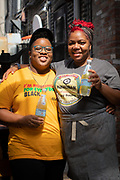 Brooklyn, NY - September 3, 2020: Photos of Mavis Jay Sanders and Sicily Sewell-Johnson of Food + People, who will be hosting a pop-up at Maison Yaki in Prospect Heights for two weeks,<br /> <br /> Photos by Clay Williams.<br /> <br /> <br /> © Clay Williams / claywilliamsphoto.com