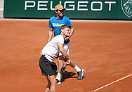 David Goffin of Belgium and his coach Germain Gigounon during practice ahead of the French Open 2021, a Grand Slam tennis tournament at Roland-Garros stadium on May 29, 2021 in Paris, France - Photo Jean Catuffe / ProSportsImages / DPPI