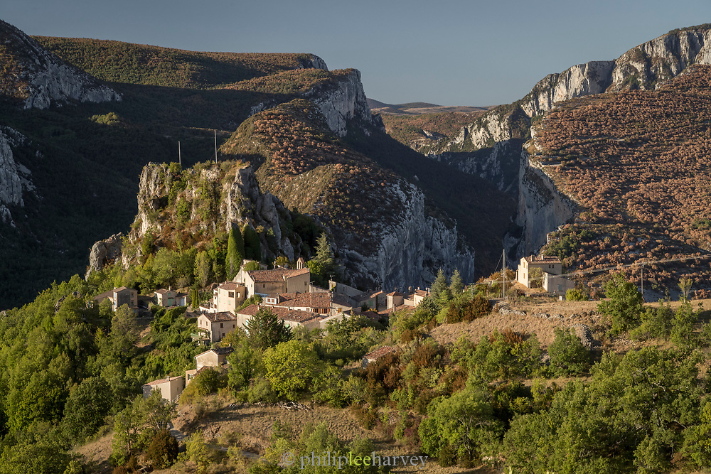 Gorges du Verdon seen from the village of Rougon, France.