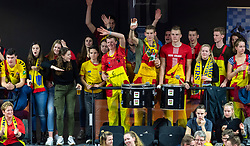 17-02-2019 NED: National Cupfinal Draisma Dynamo - Abiant Lycurgus, Zwolle<br /> Dynamo surprises national champion Lycurgus in cup final and beats them 3-1 / Dynamo support