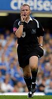 Photo: Daniel Hambury.<br />Chelsea v Aston Villa. The Barclays Premiership. 30/09/2006.<br />Referee Graham Poll.