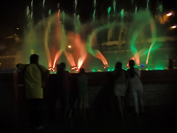 July 20, 2017 - Zamboanga City, Philippines - The dancing fountain in Zamboanga City is one of the night attractions in Zamboanga City even during implementation of Martial Law in Mindanao. (Credit Image: © Sherbien Dacalanio/Pacific Press via ZUMA Wire)