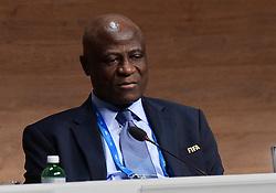 26.02.2016, Zürcher Hallenstadion, Zuerich, SUI, FIFA Kongress und Präsidentenwahl, im Bild Das FIFA Exekutivkomitee Mitglied Constant Omari (CGO) // during the extraordinary FIFA congress. Delegates of the soccer body FIFA meet to elect a new president at the Zürcher Hallenstadion in Zuerich, Switzerland on 2016/02/26. EXPA Pictures © 2016, PhotoCredit: EXPA/ Freshfocus/ Steffen Schmidt<br /> <br /> *****ATTENTION - for AUT, SLO, CRO, SRB, BIH, MAZ only*****